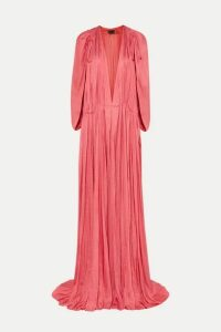 Ann Demeulemeester - Gathered Habotai Maxi Dress - Pink