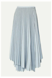 Proenza Schouler - Asymmetric Pleated Cady Wrap Skirt - Blue