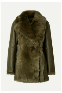 Theory - Shearling Coat - Army green