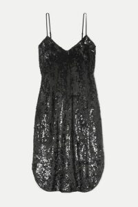 Nili Lotan - Sequined Chiffon Dress - Black