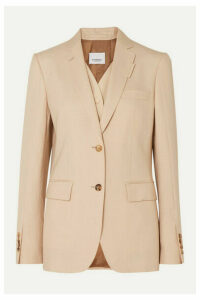 Burberry - Wool, Silk, Mohair And Linen-blend Blazer - Neutral