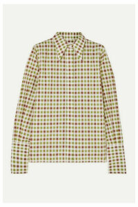 Victoria Beckham - Checked Cotton Shirt - Green