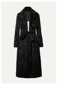 Cult Gaia - Aya Open-back Matelassé Velvet Coat - Black