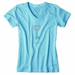 Life is Good - Ladies Crusher T-Shirt Pool Blue