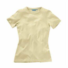 Ladies Short Sleeved Deep Crew T-Shirt Bone