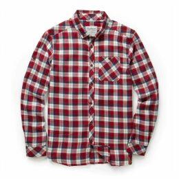Kearney Long Sleeved Check Shirt Maple Red