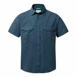 Kiwi Short Sleeved Shirt Faded Indigo