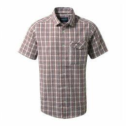Warby Short Sleeved Shirt Carmine Combo