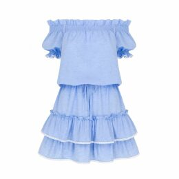 Klements - Netil Dress In Garden Puppets Print