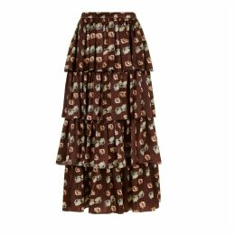 PHOEBE GRACE - Burgundy Poppy Charlie Skirt