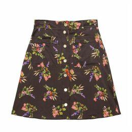 Tomcsanyi - Bratislava Lame Flower Print Skirt