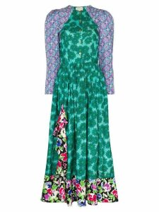 Rentrayage Palm Beach Fiesta floral print midi dress - Multicolour