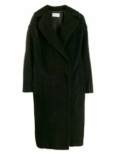 Forte Dei Marmi Couture textured logo midi coat - Black