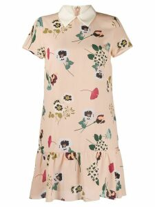 Red Valentino floral-print collared dress - Neutrals