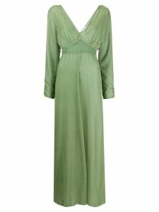 Forte Forte velvet empire-line dress - Green