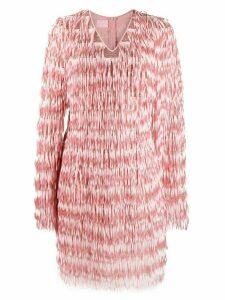 Giamba fringed sequin-embellished dress - Pink