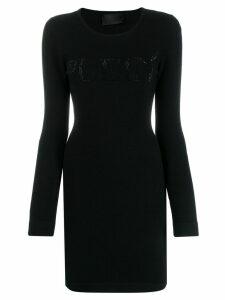 Philipp Plein fitted knit dress - Black