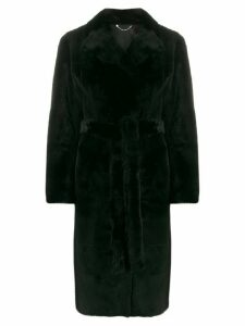 Desa 1972 shearling midi coat - Black