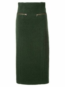 Muller Of Yoshiokubo textured cotton midi skirt - Green