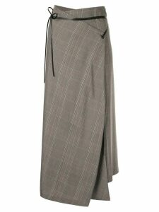 Muller Of Yoshiokubo high-waisted check skirt - Brown