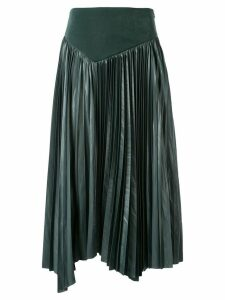 Muller Of Yoshiokubo asymmetric pleated skirt - Blue