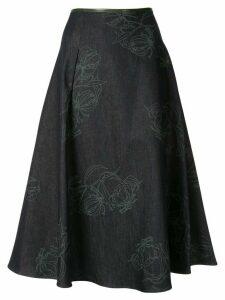 Anteprima Fiore Gloriosa flared skirt - Blue