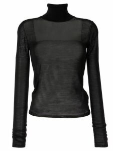 Nº21 sheer knitted top - Black