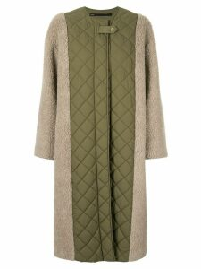 Muller Of Yoshiokubo contrast quilted midi coat - Green