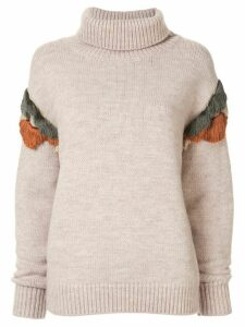 Muller Of Yoshiokubo wool knitted jumper - Neutrals