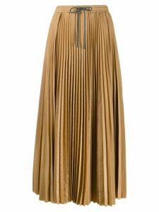 Tela full pleated midi skirt - Brown