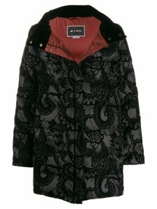 Etro paisley padded coat - Black