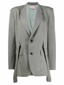 Natasha Zinko straps detail blazer - Grey