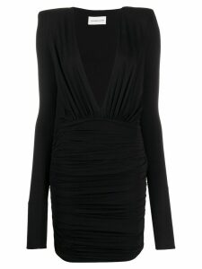 Alexandre Vauthier deep v fitted dress - Black