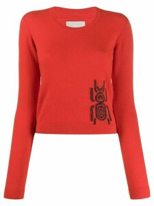 Frankie Morello embroidered long-sleeve sweater