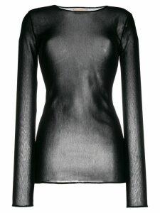 Alexandre Vauthier sheer knit stretch top - Black