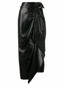 Isabel Marant Fiova asymmetric wrap skirt - Black