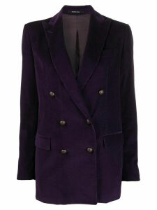 Tagliatore double-breasted fitted blazer - Purple