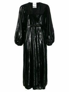 Black Coral Ava glossy long dress