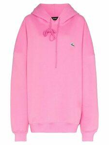 We11done logo-appliqued hooded sweatshirt - Pink