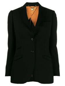 Maurizio Miri crepe blazer - Black