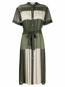 Equipment colour block shirt dress - Green