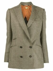 Maurizio Miri double-breasted houndstooth blazer - NEUTRALS
