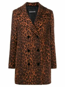 Ermanno Ermanno leopard print coat - Orange