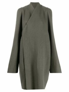 Rick Owens Larry V-neck tusk coat - Grey