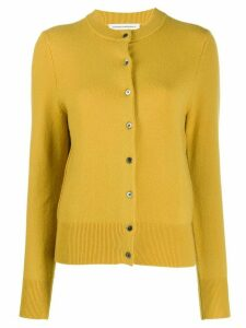Extreme Cashmere long sleeve knit cardigan - Yellow