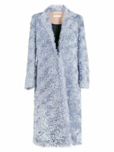 Ssheena faux fur coat - Blue