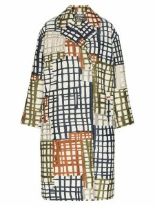 Jacquemus Le Manteau Carreaux coat - Blue