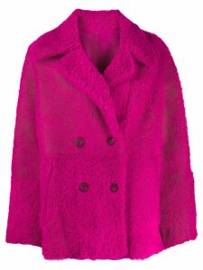 Drome double-breasted reversible coat - 4274 Fuchsia