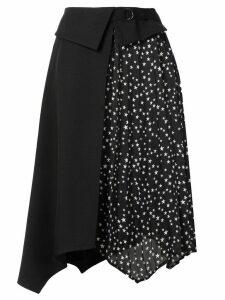 Guild Prime star-print panelled skirt - Black