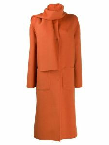 Ermanno Ermanno wrap neck coat - Orange